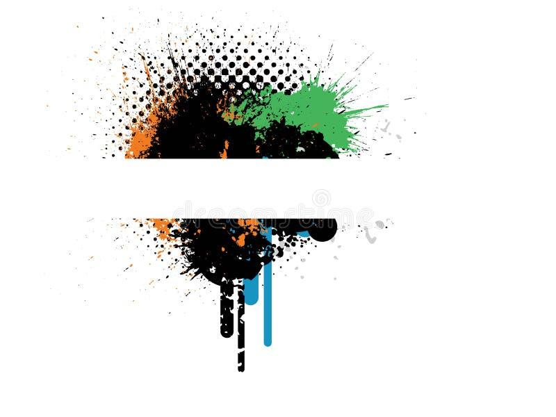 Projeto creativo à moda de Grunge ilustração royalty free