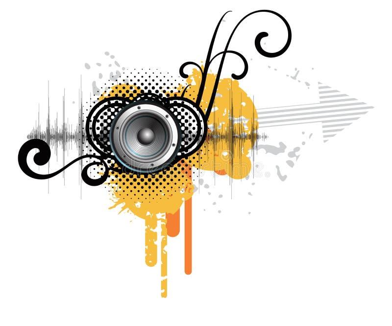 Projeto creativo abstrato da música ilustração do vetor