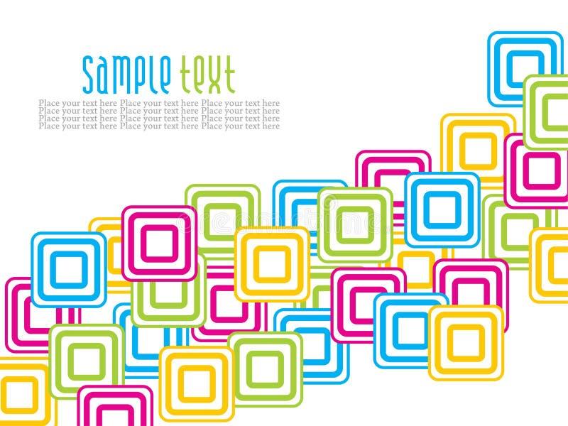 Projeto creativo abstrato dos quadrados do colorfull ilustração do vetor