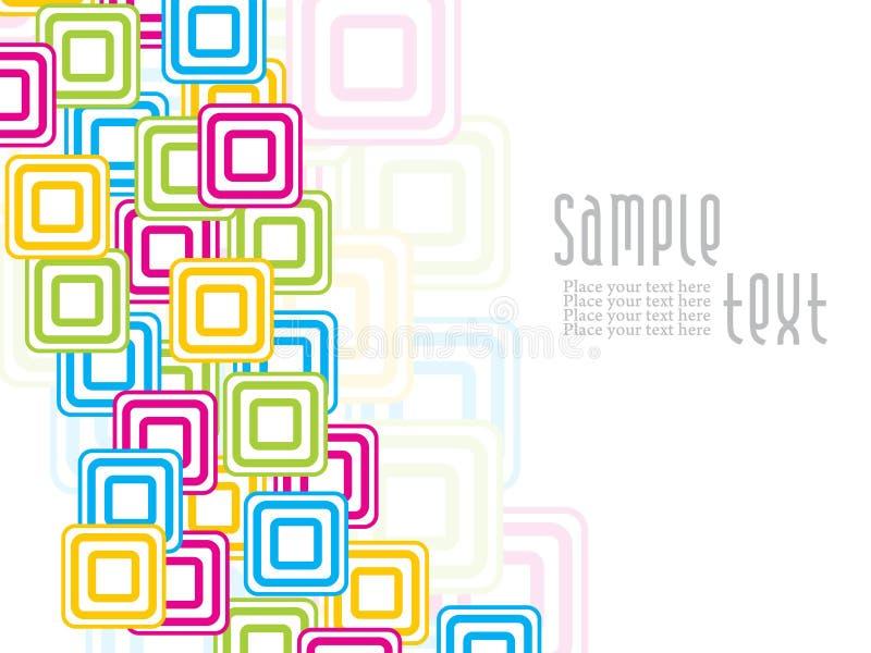 Projeto creativo abstrato dos quadrados do colorfull ilustração stock