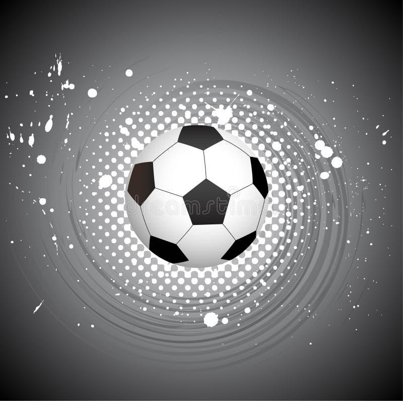 Projeto creativo do futebol abstrato ilustração do vetor