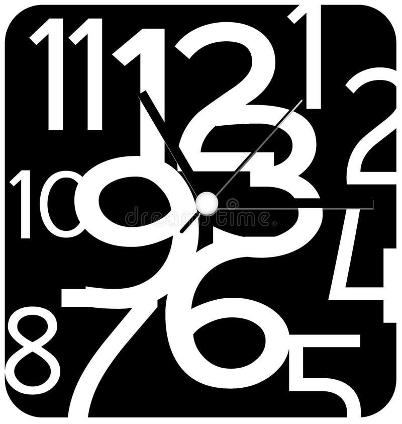 Projeto criativo da face do relógio ilustração royalty free