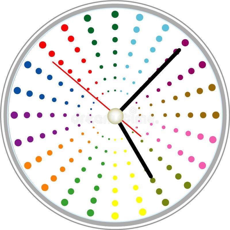 Projeto criativo da face do relógio ilustração stock