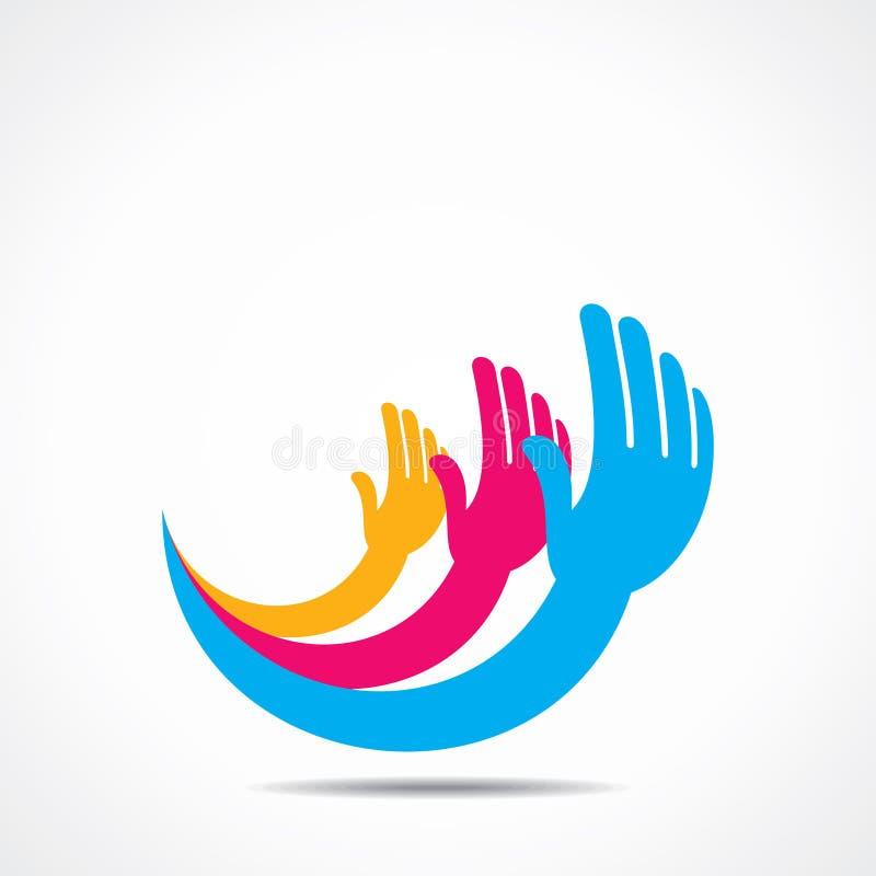 Projeto criativo do ícone da mão ilustração do vetor