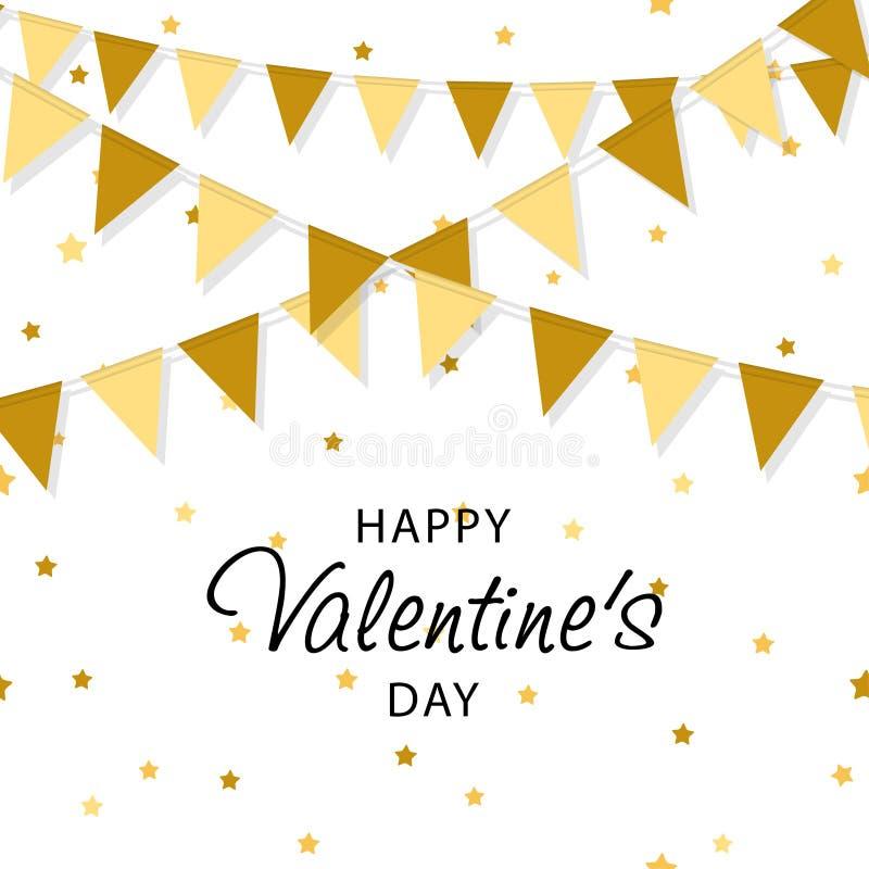 Projeto criativo do cartaz, da bandeira ou do inseto Celebração feliz do dia do ` s do Valentim Conceito do dia do ` s do Valenti ilustração do vetor