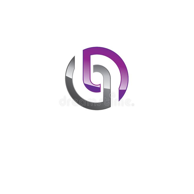 Projeto criativo do logotipo ilustração royalty free