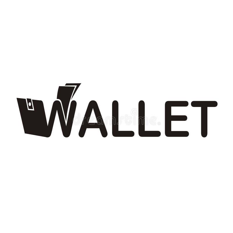 Projeto criativo do logotipo da carteira fotografia de stock