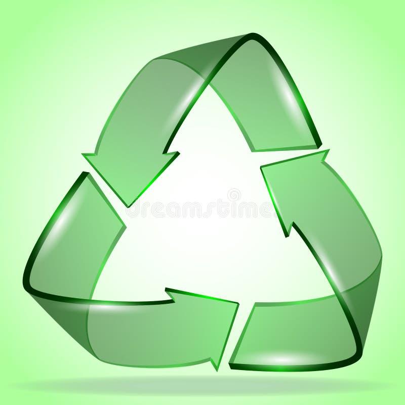 projeto criativo do logotipo da ecologia 3d ilustração royalty free