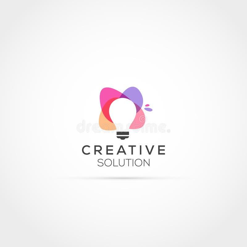 Projeto criativo do logotipo da solução da ideia ilustração do vetor