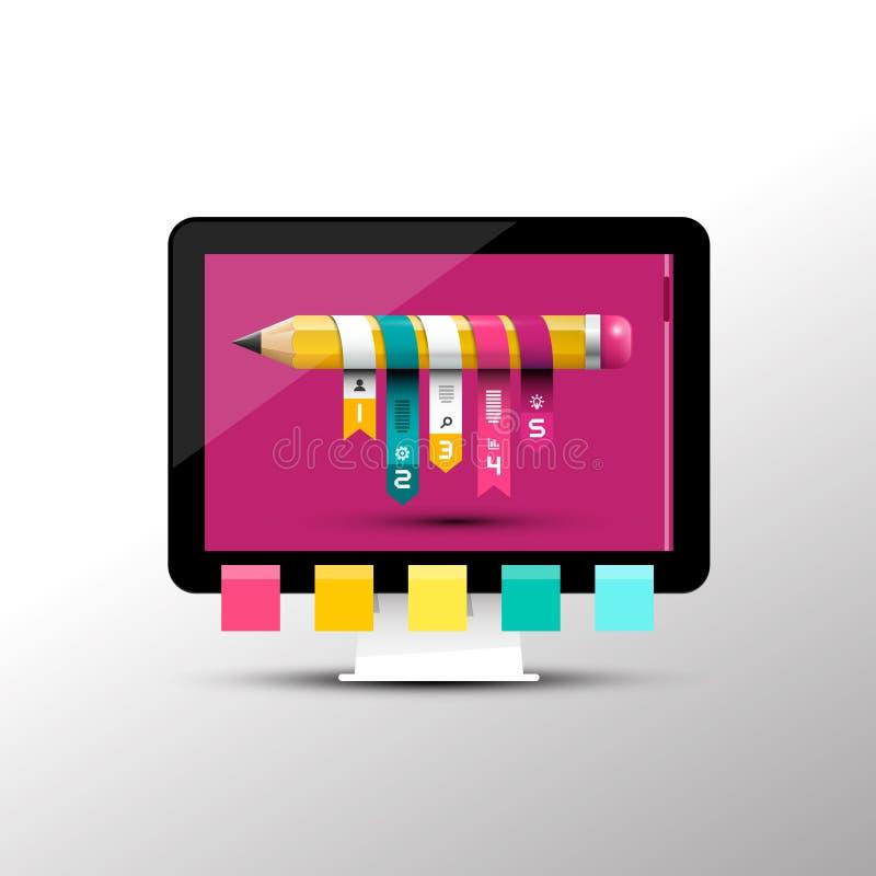 Projeto criativo do projeto Molde de Infographic ilustração royalty free