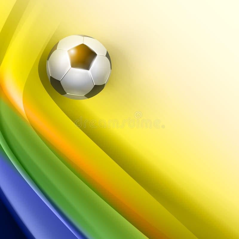 Projeto criativo do vetor do futebol ilustração stock