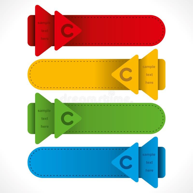 Projeto criativo dos informação-gráficos do encabeçamento da seta ilustração do vetor