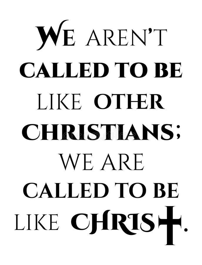 Projeto cristão com uma cruz de Jesus Christ e do texto da motivação ilustração do vetor