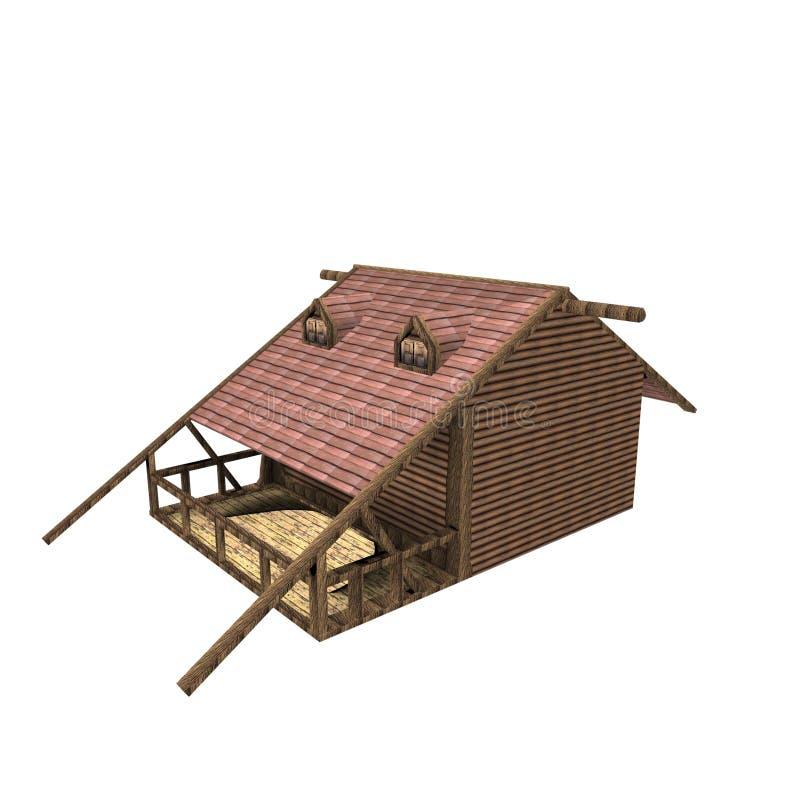 projeto 3D do espaço da casa ilustração stock