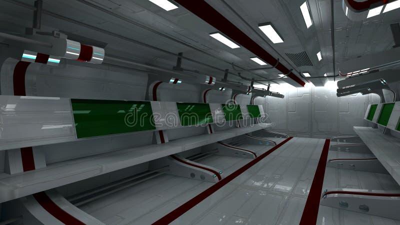 Download Interior futurista ilustração stock. Ilustração de tecnologia - 29830206