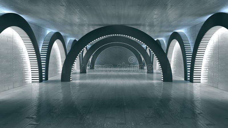 Download Interior futurista ilustração stock. Ilustração de navio - 29830479