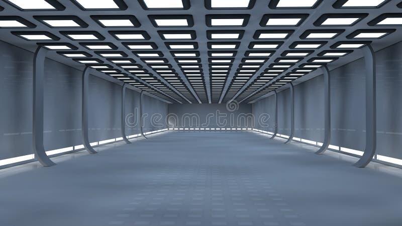 Download Interior futurista ilustração stock. Ilustração de sumário - 29830501