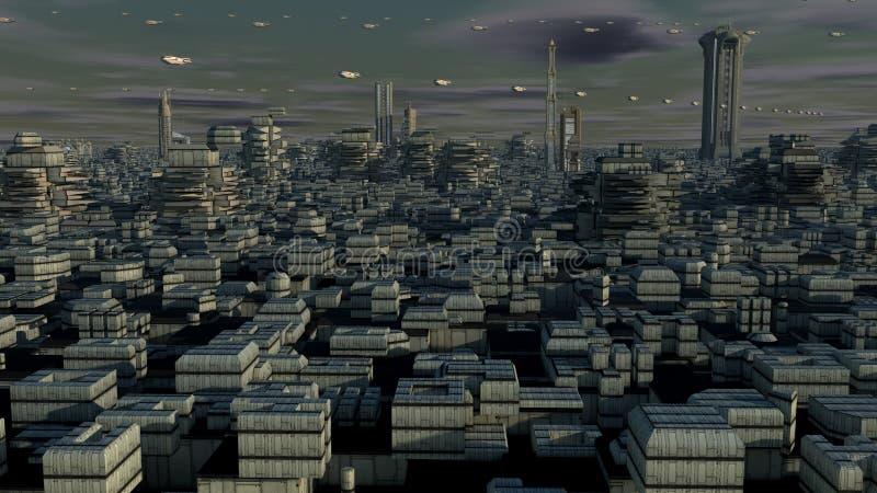 Planeta futurista ilustração do vetor
