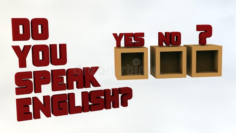 Download Você fala o inglês? ilustração stock. Ilustração de educar - 29830657