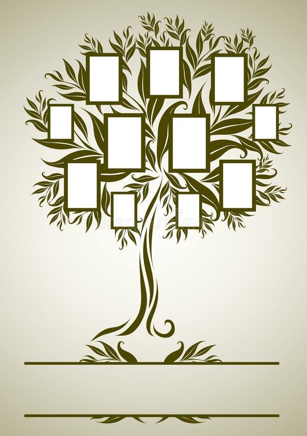 Projeto da árvore de família do vetor com frames ilustração do vetor