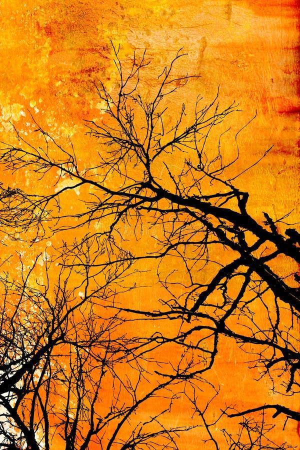 Projeto da árvore de Grunge ilustração stock