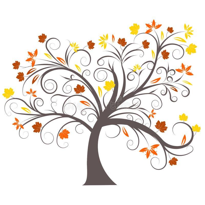 Projeto da árvore do outono do vetor ilustração stock