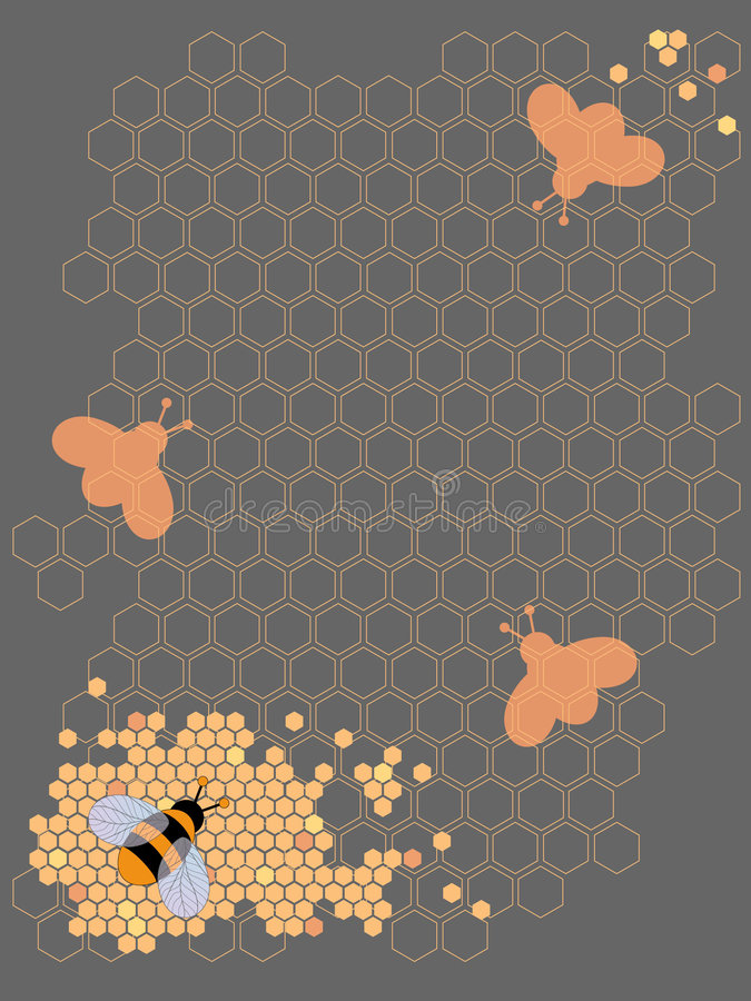 Projeto da abelha do mel ilustração royalty free