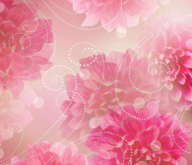 Projeto da arte abstrata das flores. Fundo floral ilustração stock