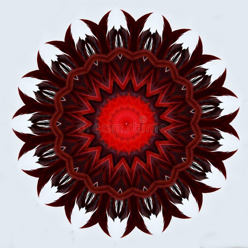 Projeto da arte de Digitas com penas vermelhas ilustração royalty free