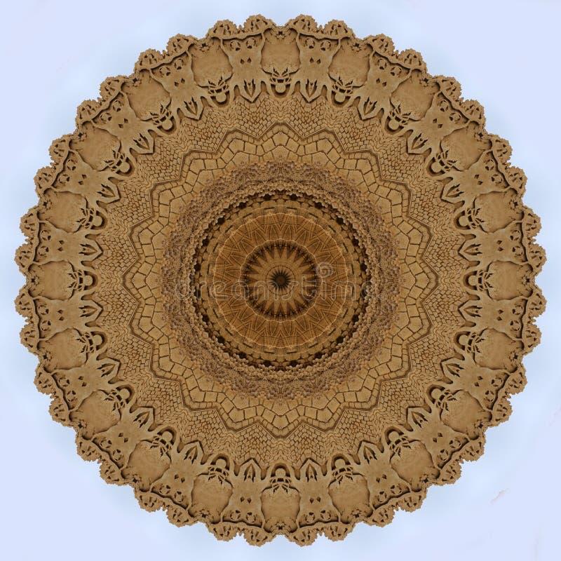 Projeto da arte de Digitas, teste padrão feito com construção da areia ilustração do vetor