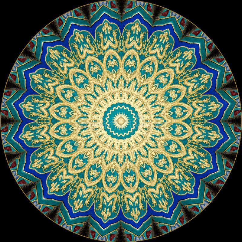 Projeto da arte de Digitas, teste padrão oriental ilustração do vetor