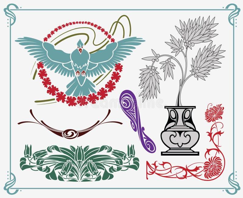 Projeto da Arte-nouveau ilustração stock