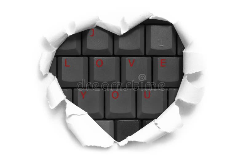 Projeto da bandeira da arte na forma do coração no Livro Branco com palavras mim imagem de stock