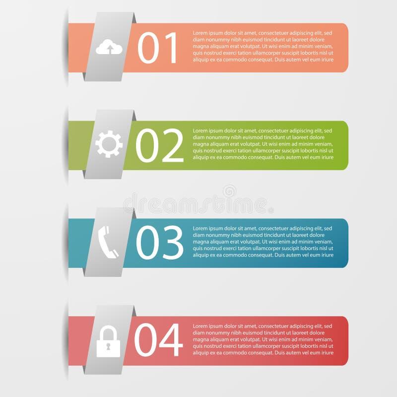 Projeto da bandeira de Infographic para o logotipo e a informação ilustração do vetor