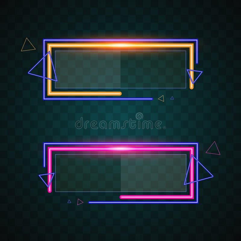 Projeto da bandeira da tecnologia ilustração stock