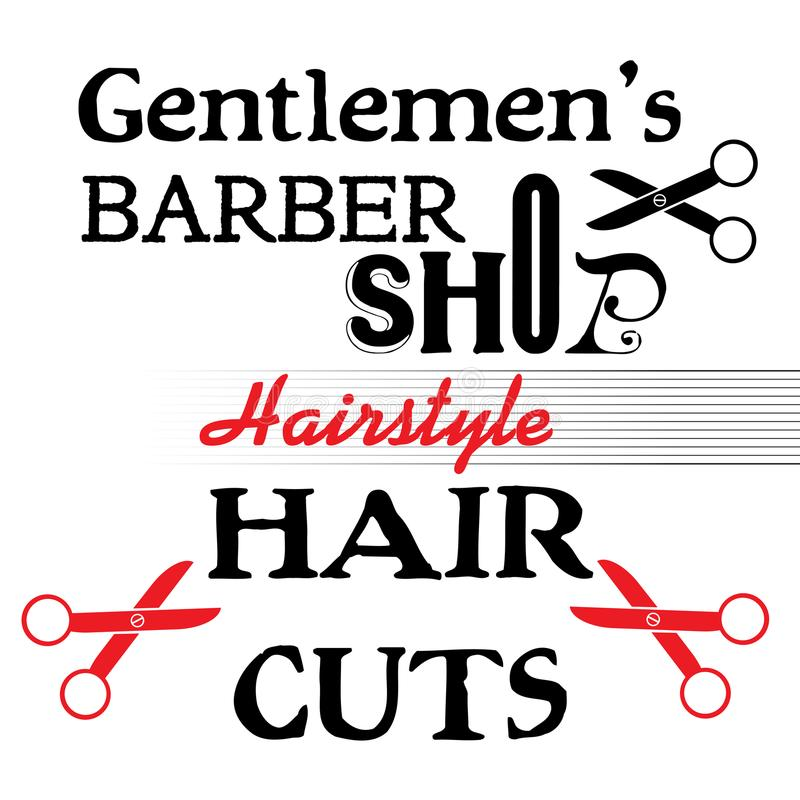 Projeto da barbearia ilustração royalty free