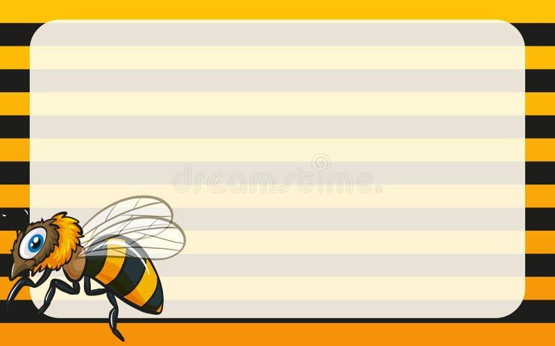 Projeto da beira com abelha amarela ilustração do vetor