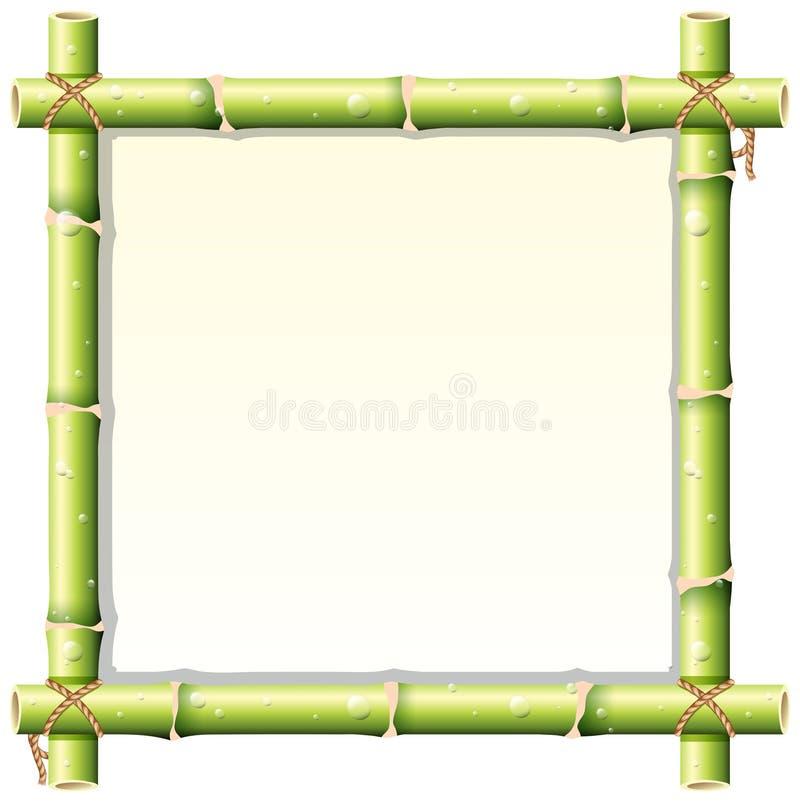 Projeto da beira com haste de bambu ilustração royalty free