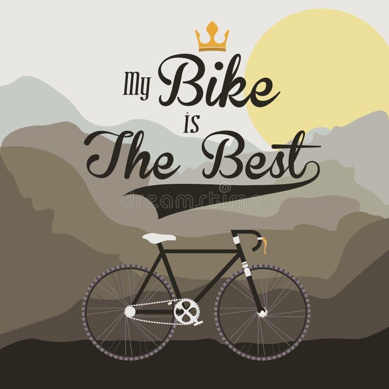 Projeto da bicicleta ilustração royalty free
