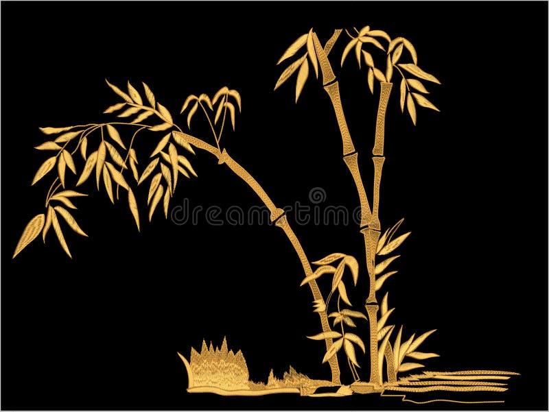 Projeto da cópia de matéria têxtil de Motitf do bordado para a arte de Mughal Illustrat, ilustração ilustração royalty free