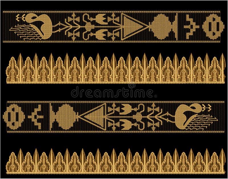Projeto da cópia de matéria têxtil de Motitf do bordado para a arte de Mughal ilustração royalty free