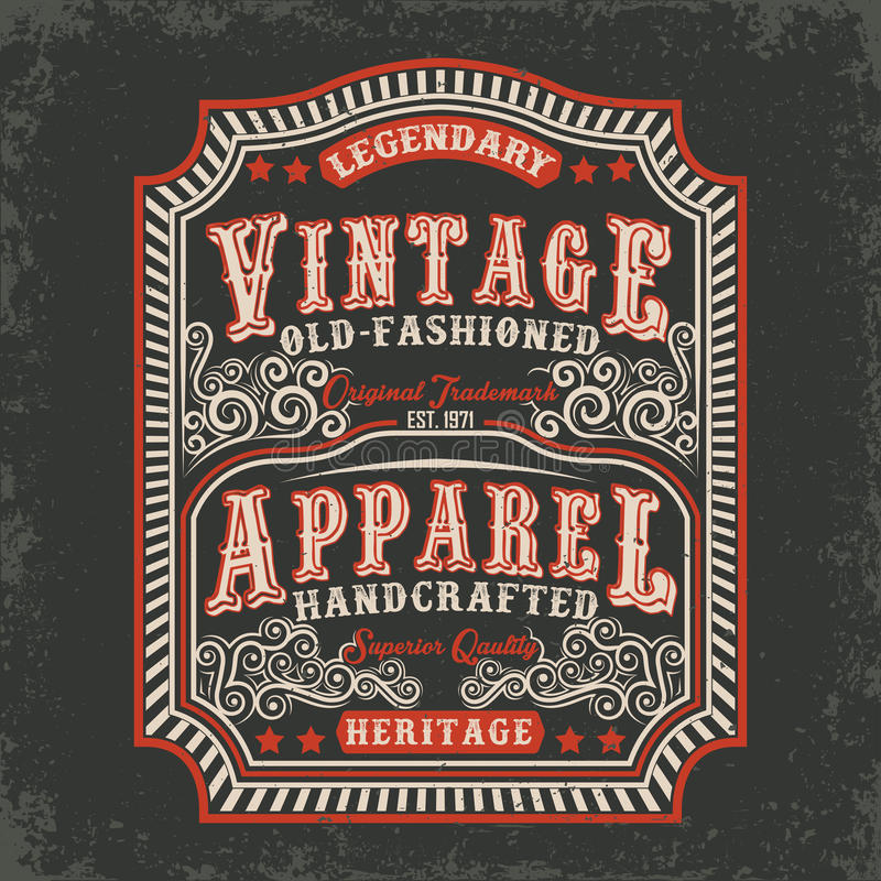 Projeto da cópia do t-shirt ilustração royalty free
