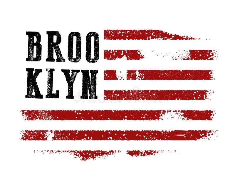 Projeto da camisa da tipografia de New York ilustração royalty free