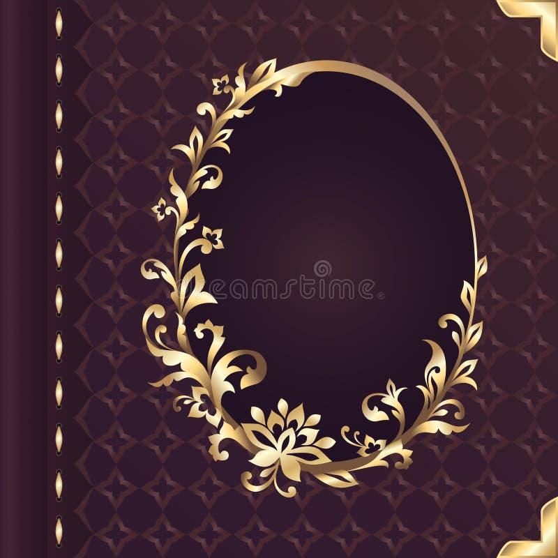 Projeto da capa do livro com quadro ornamentado floral decorativo ilustração royalty free