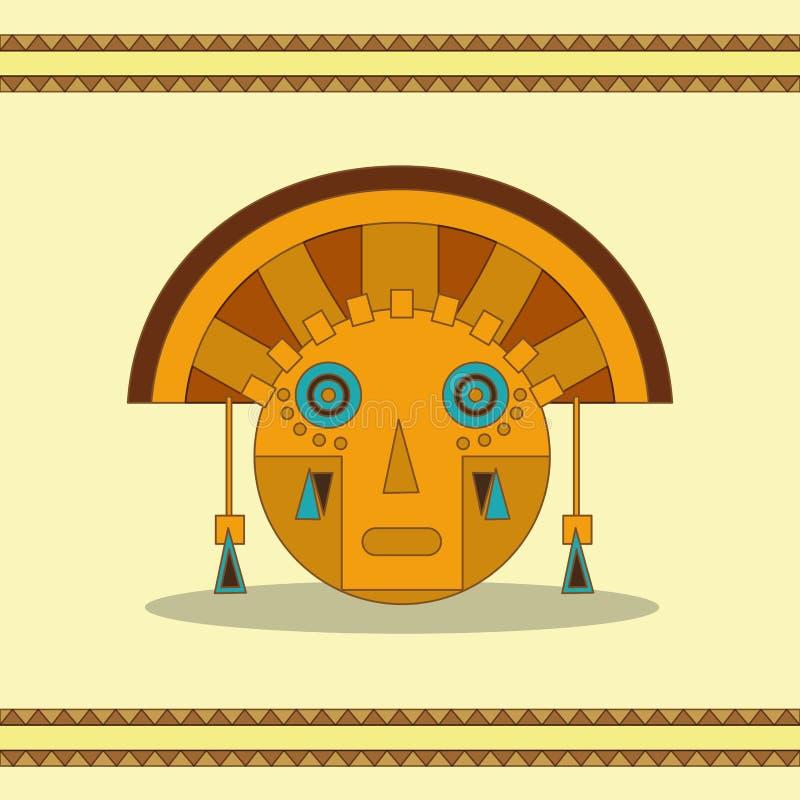 Projeto da cara do Maya ilustração royalty free