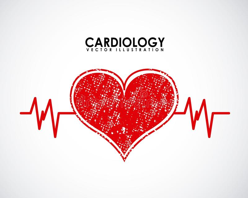 Projeto da cardiologia ilustração royalty free