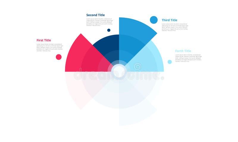 Projeto da carta do círculo do vetor Molde moderno para criar o infographics, apresentações, relatórios, visualizações Amostras d ilustração stock