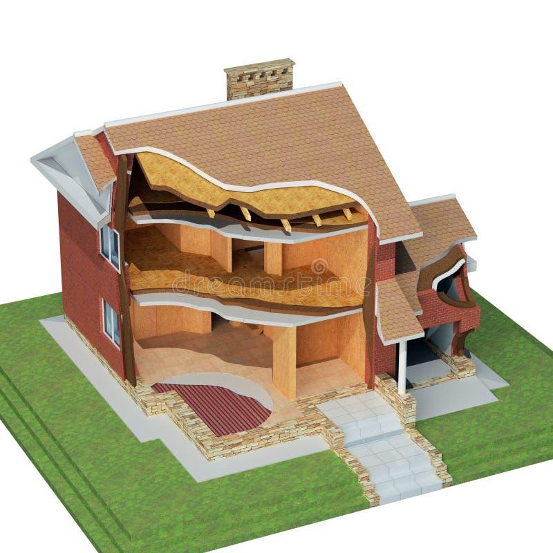 Projeto da casa ilustração do vetor