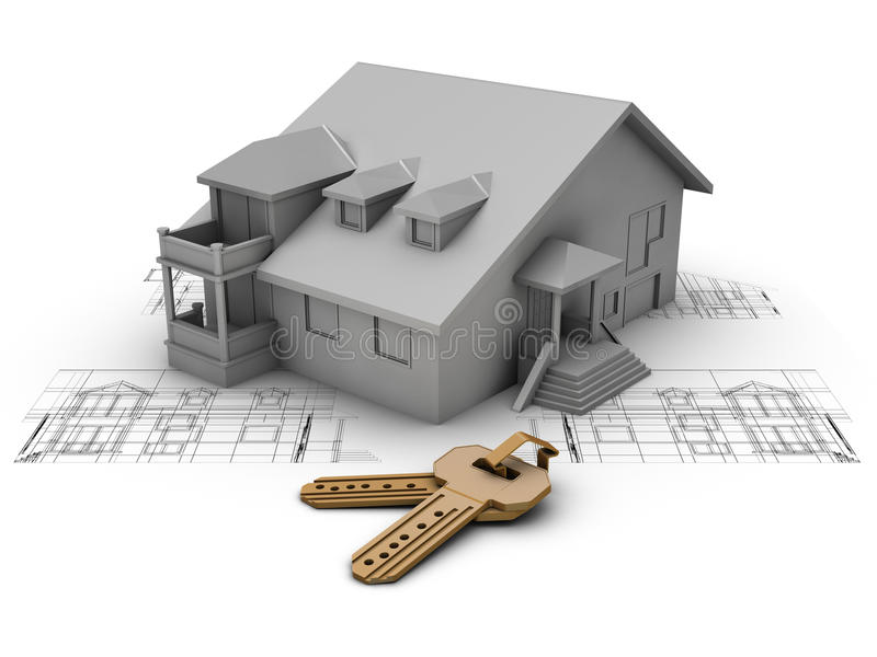 Projeto da casa ilustração stock