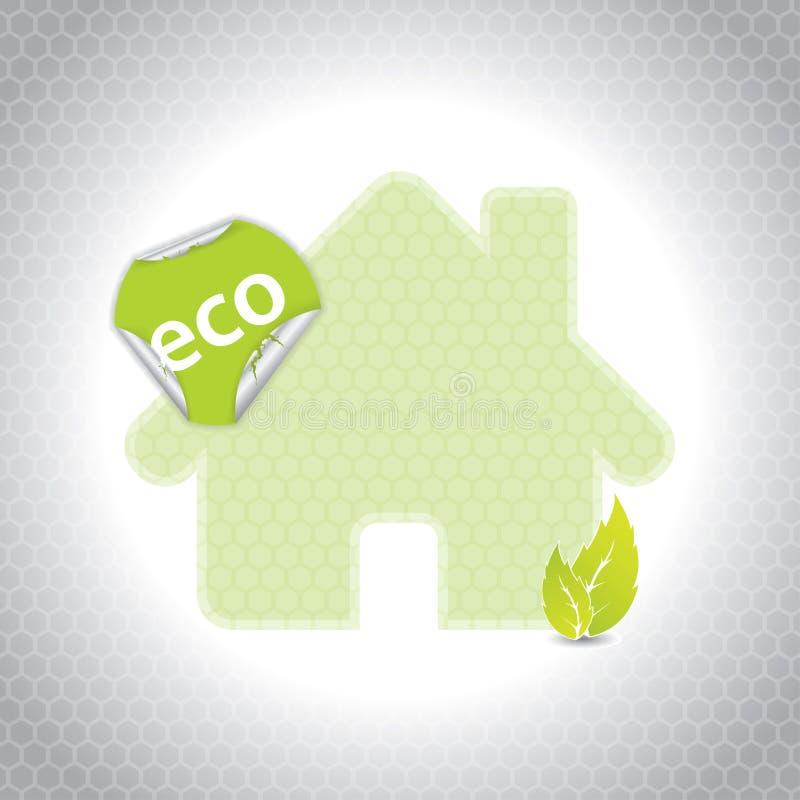 Projeto da casa de Eco com etiqueta ilustração royalty free